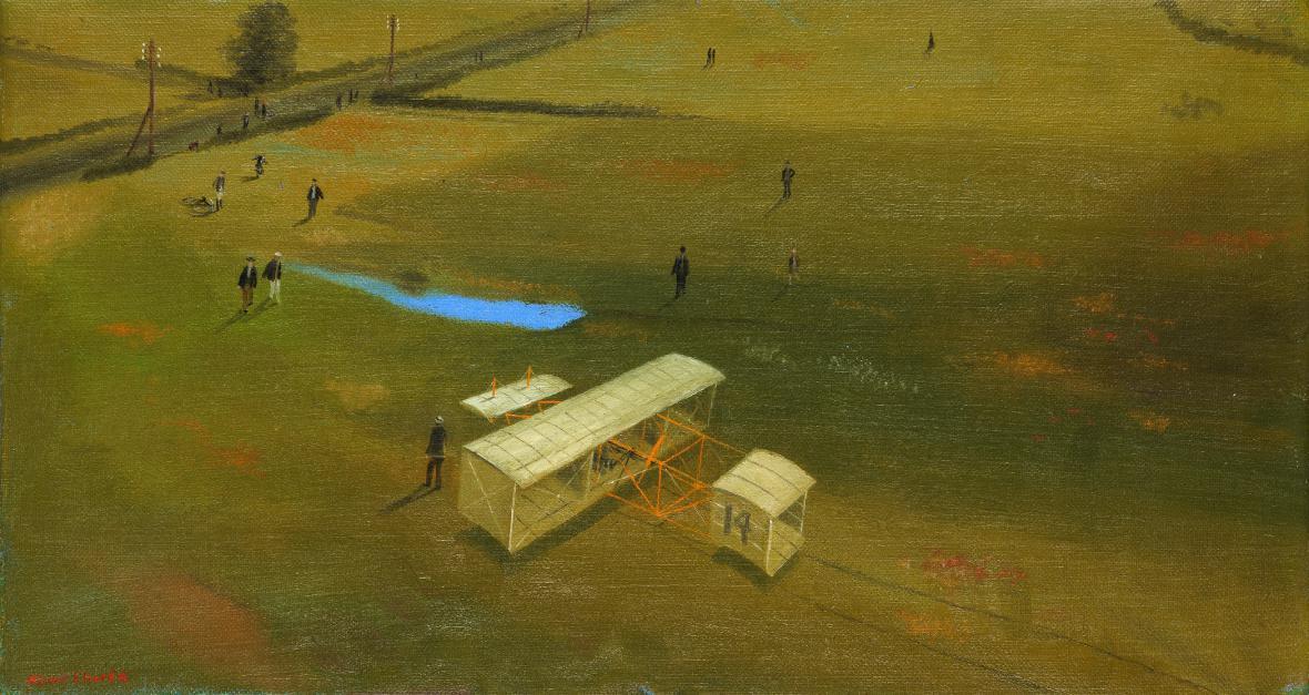 Nouzové přistání, 1942, soukromá sbírka