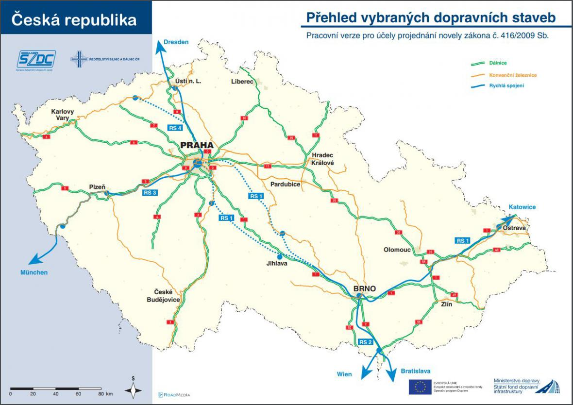 Přehled vybraných dopravních staveb
