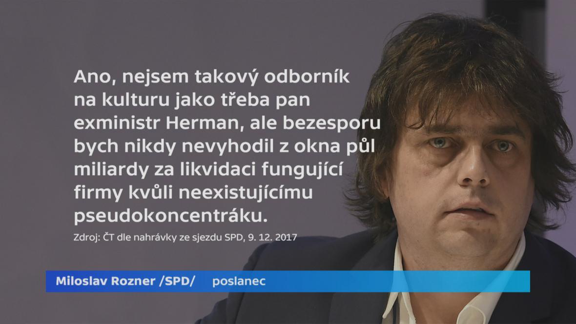 Miloslav Rozner na sjezdu SPD