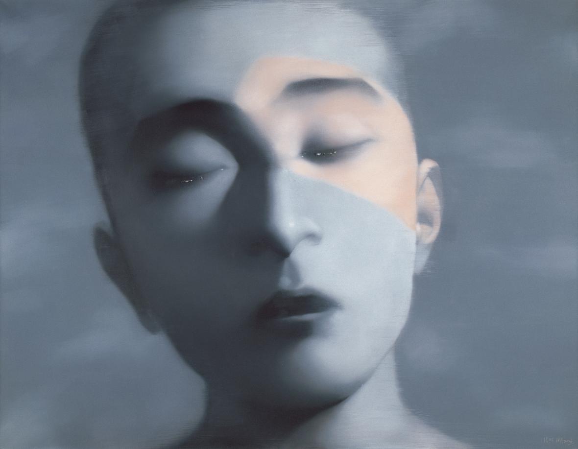 Zhang Xiaogang / Amnézie a paměť – chlapec se zavřenýma očima, 2006