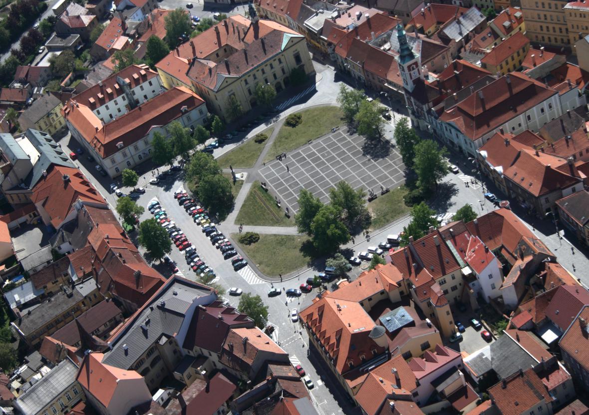 Masarykovo náměstí ve Slaném