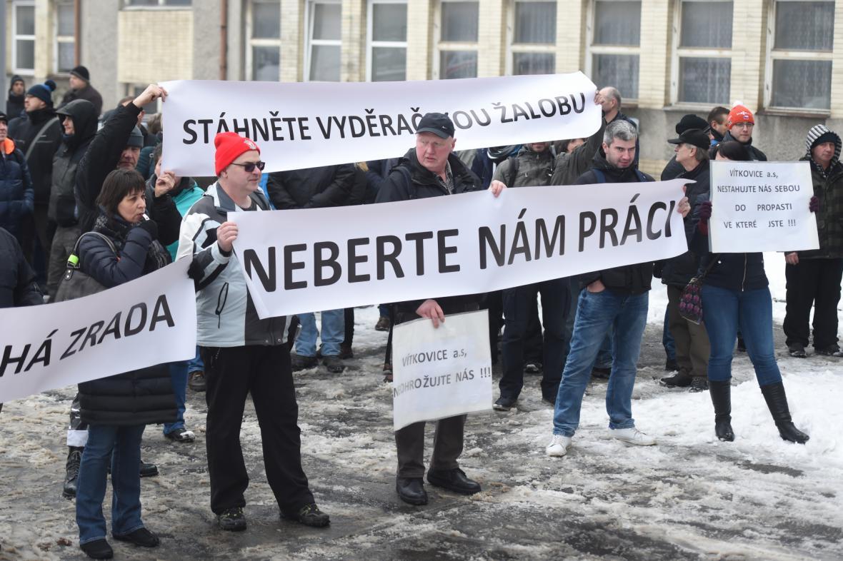 Protesty zaměstnanců Vítkovických strojíren