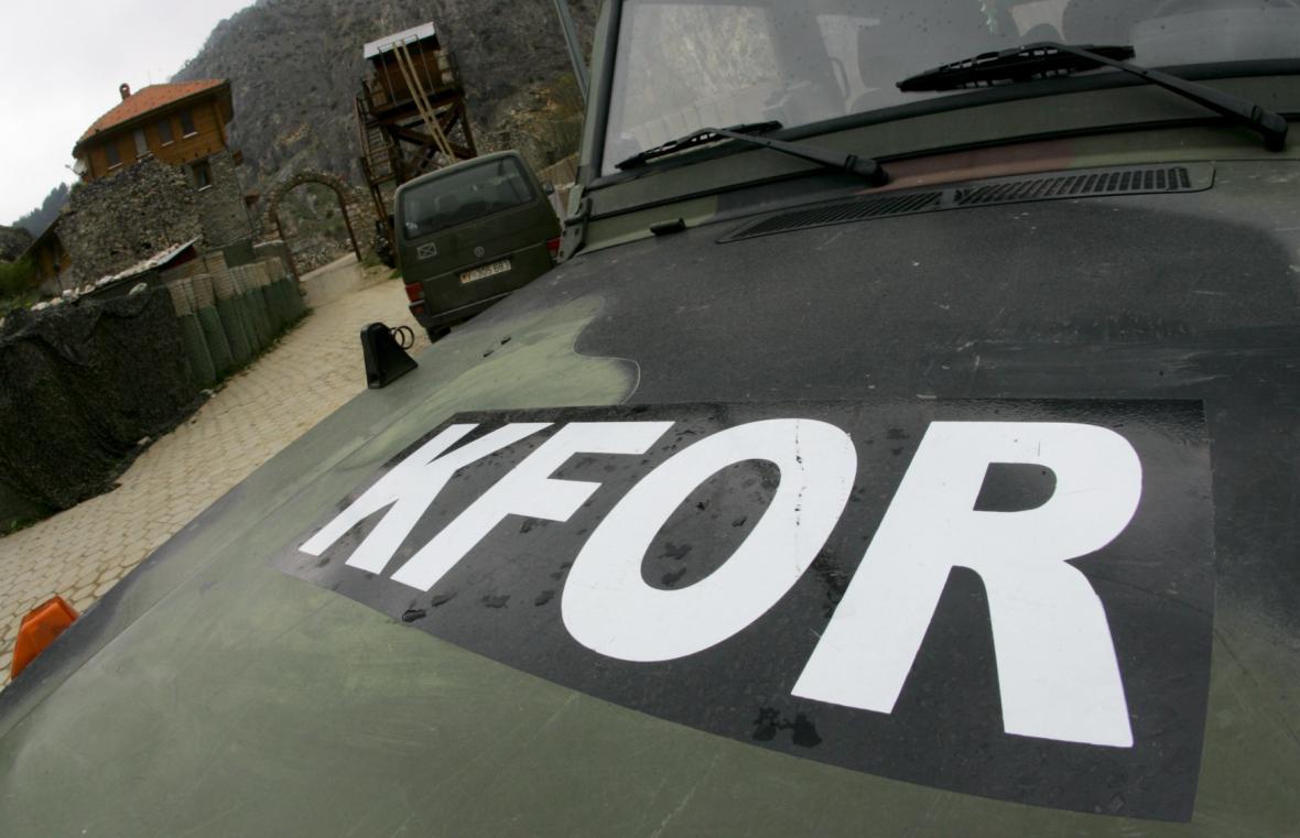 Vojenské vozidlo KFOR