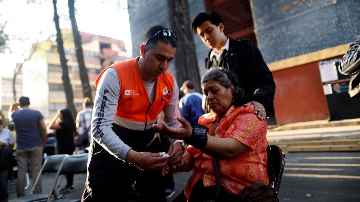Mexická metropole po zemětřesení