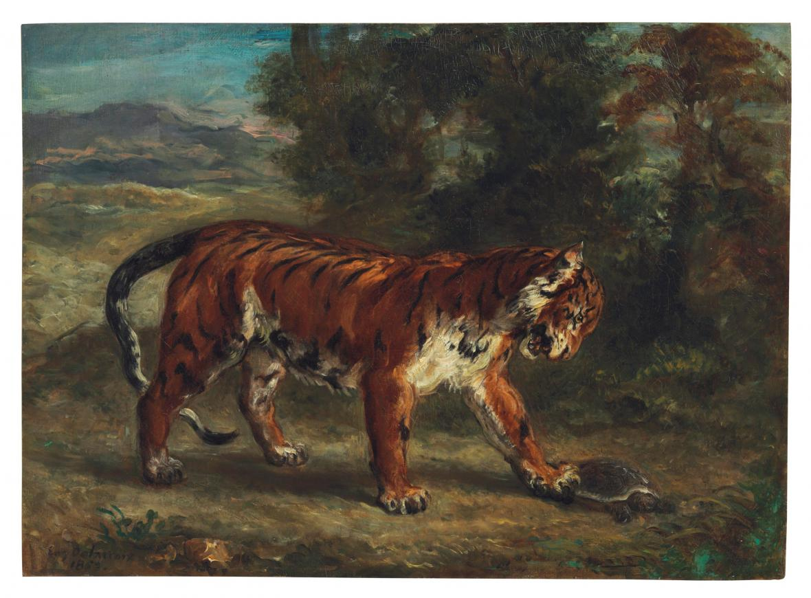 Eugène Delacroix / Tygr
