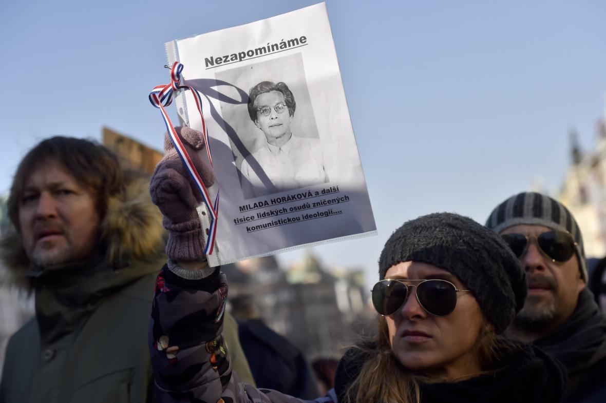 Demonstrace za svobodu a demokracii na Václavském náměstí