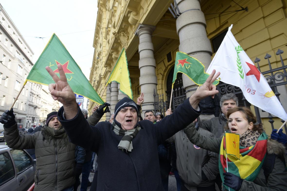 Protest na podporu Sáliha Muslima