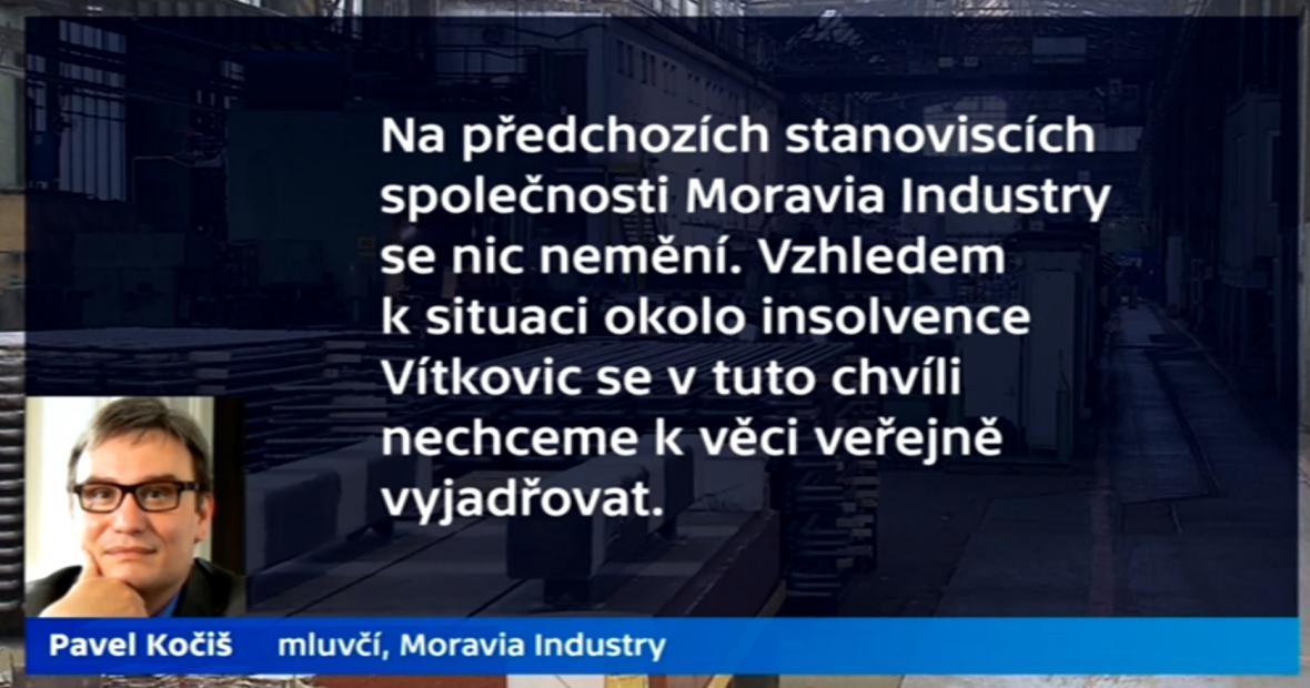 Vyjádření zástupce firmy Moravia Invest