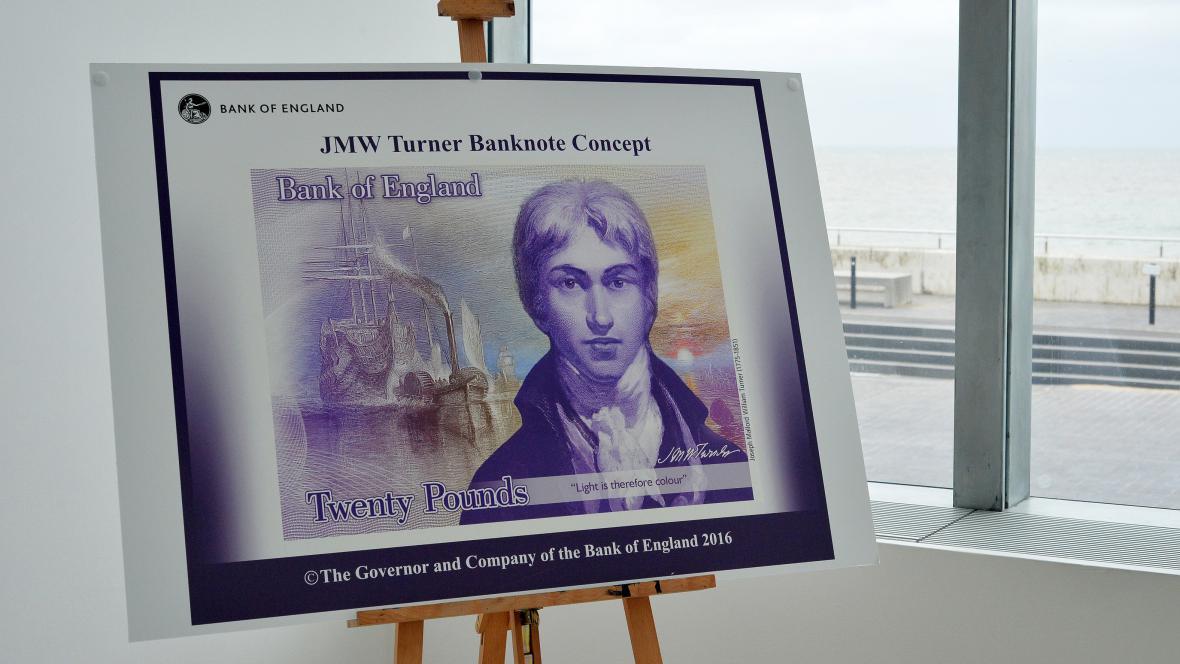 Návrh bankovky s Turnerem