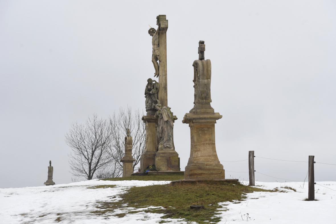 Křížová cesta v obci Ruda v Moravskoslezském kraji
