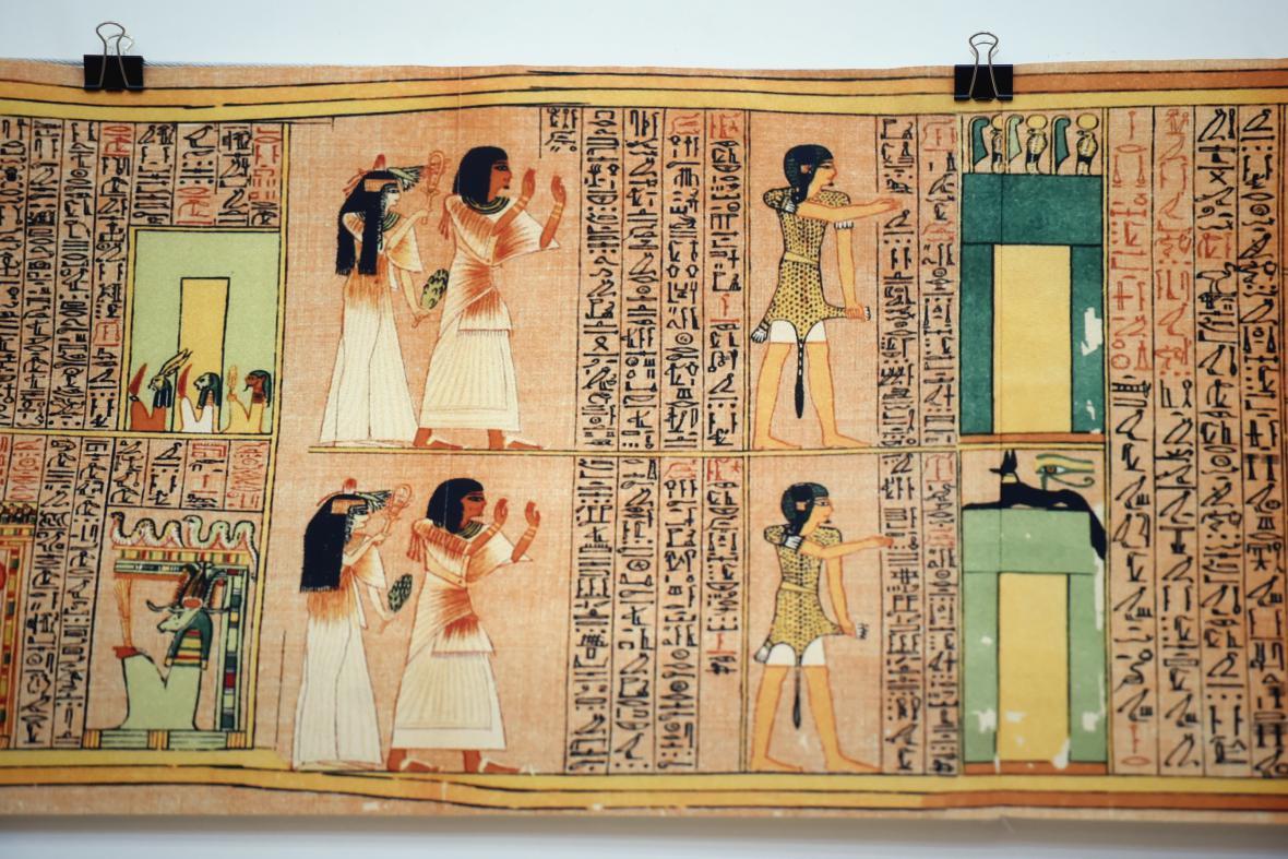 Kopie Aniho papyru z Egyptské knihy mrtvých