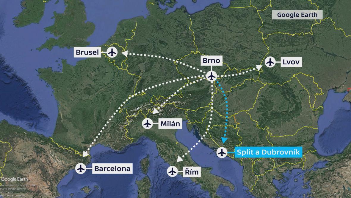 Zrušené linky z Brna