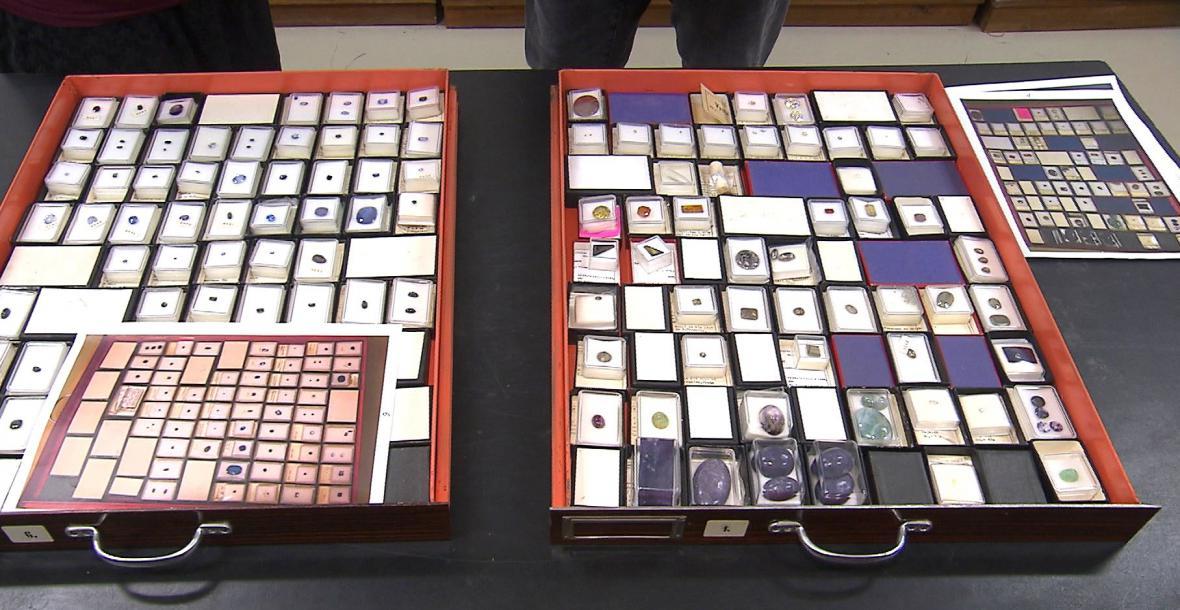 Sbírka vzácných kamenů v Národním muzeu