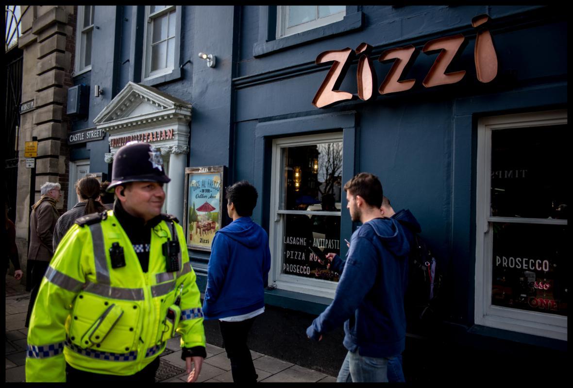 Italská restaurace Zizzi, kde byl Skripal údajně se svou dcerou na obědě
