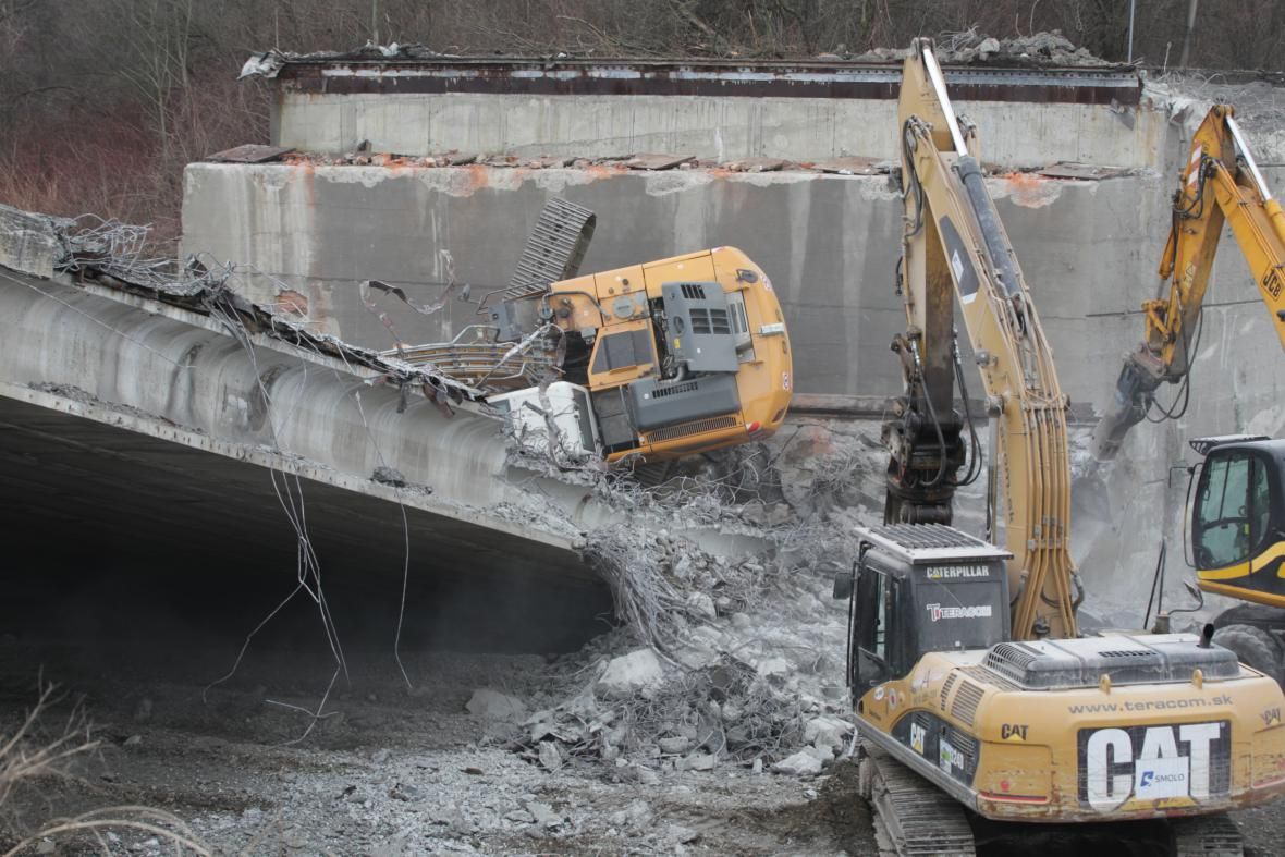 Nehoda při rekonstrukci dálnice D48
