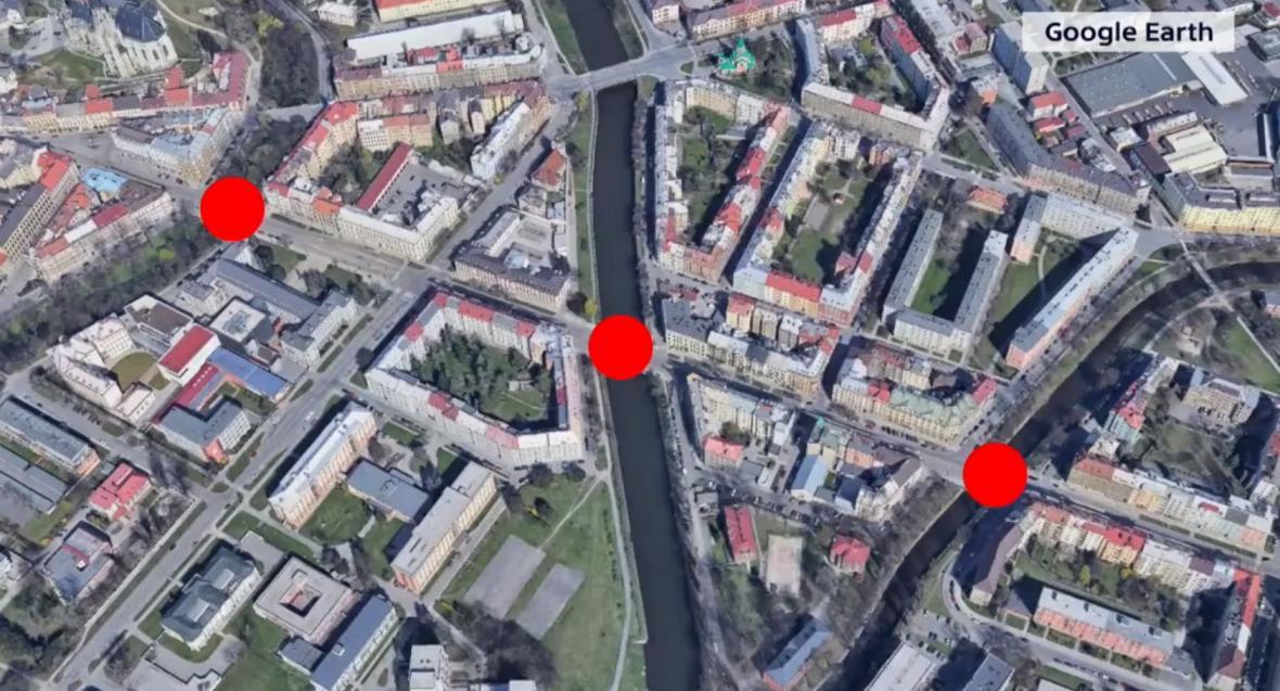 Mostní konstrukce v Olomouci, na kterých tramvaje dodržují dopravní omezení