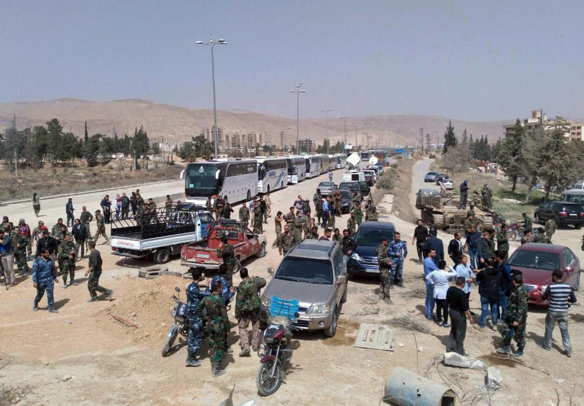 Evakuace povstalců z východní Ghúty