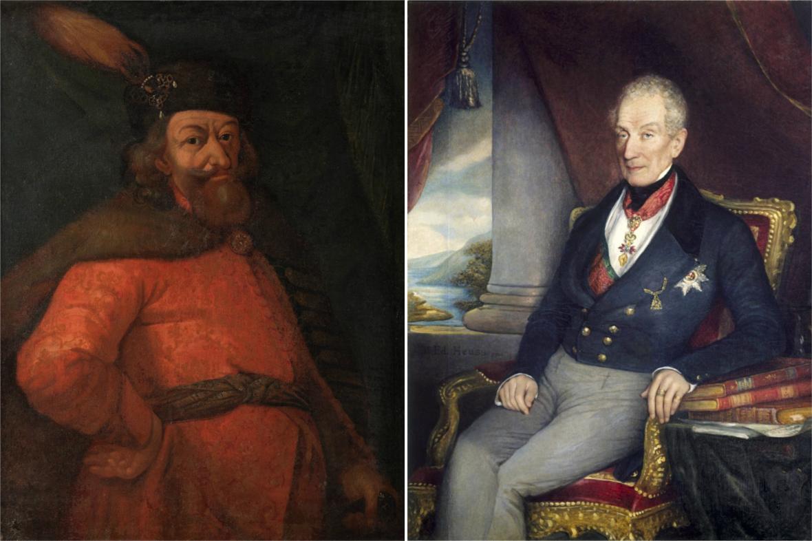 Heřman Černín z Chudenic a Klement Václav Metternich