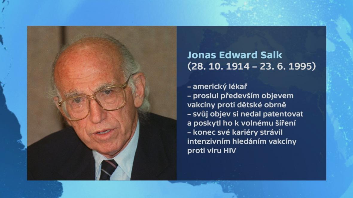 Život Jonase Salka v kostce
