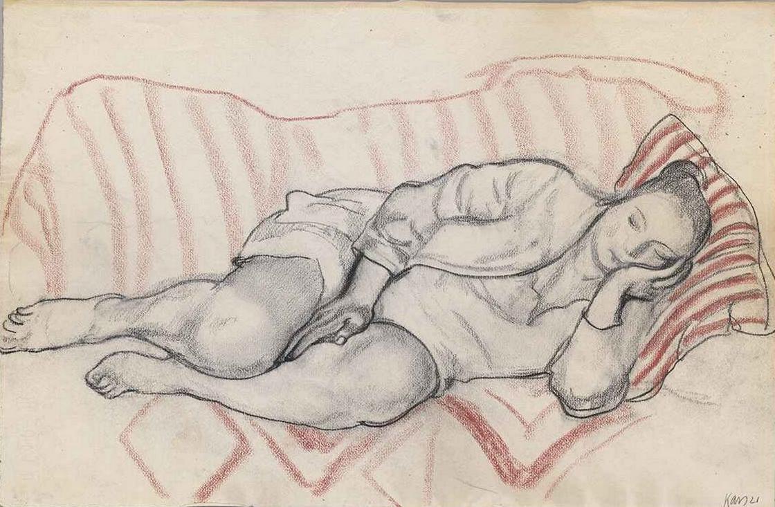 Jiří Kars, Ležící dívka, 1921