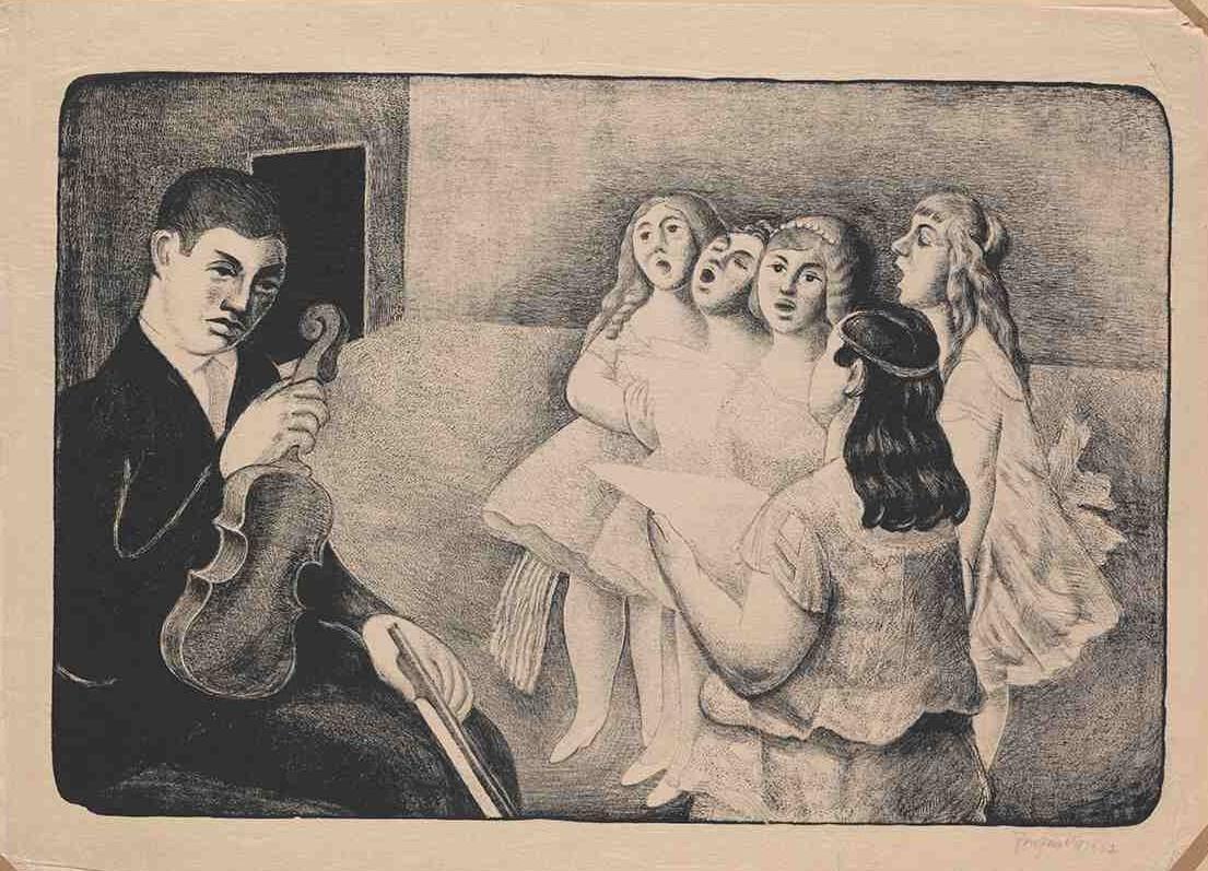 Jan Bauch, Zpívající dívky, 1923