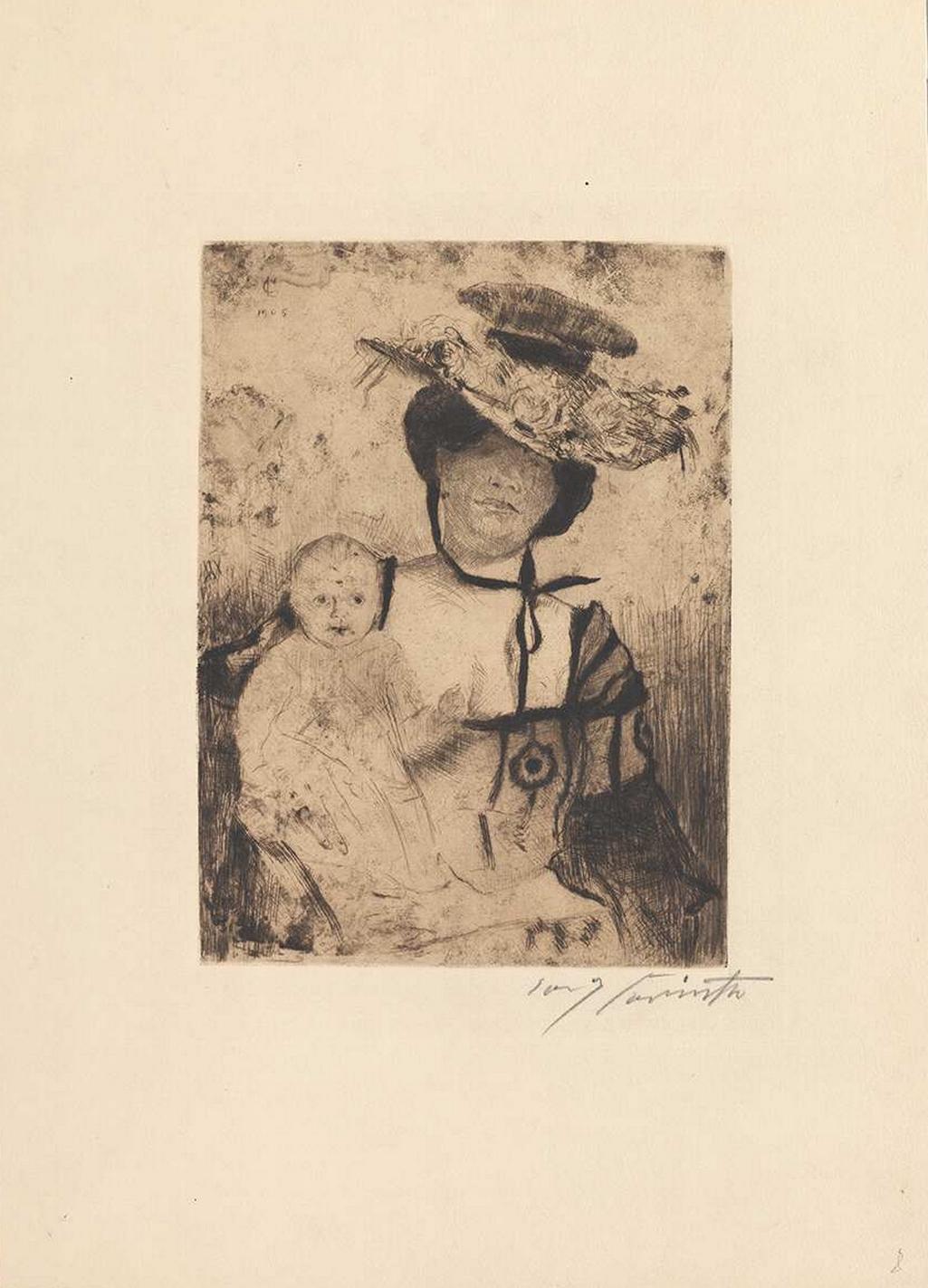 Lovis Corinth, Matka s dítětem, 1905