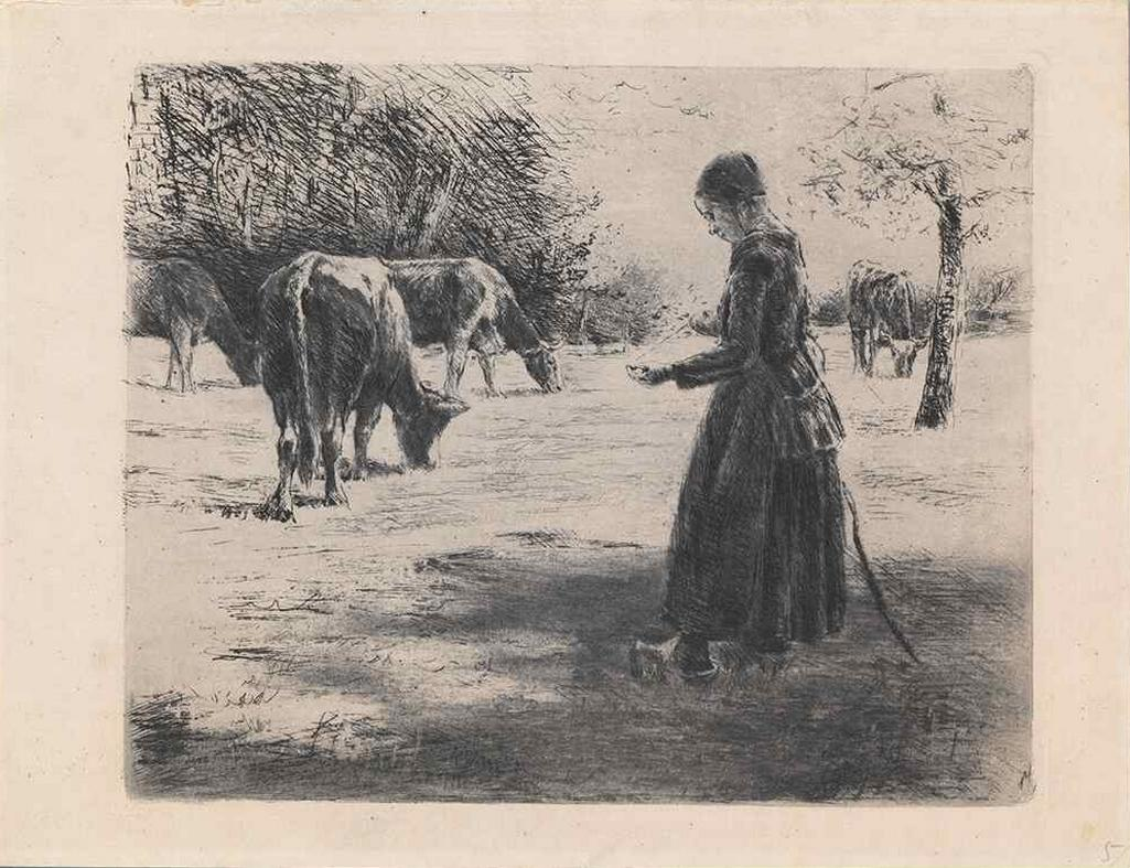 Max Liebermann, Pasačka krav, nedatováno (1891)