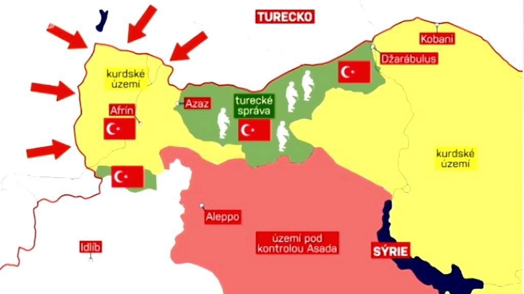 Syrské území pod kontrolou Turecka