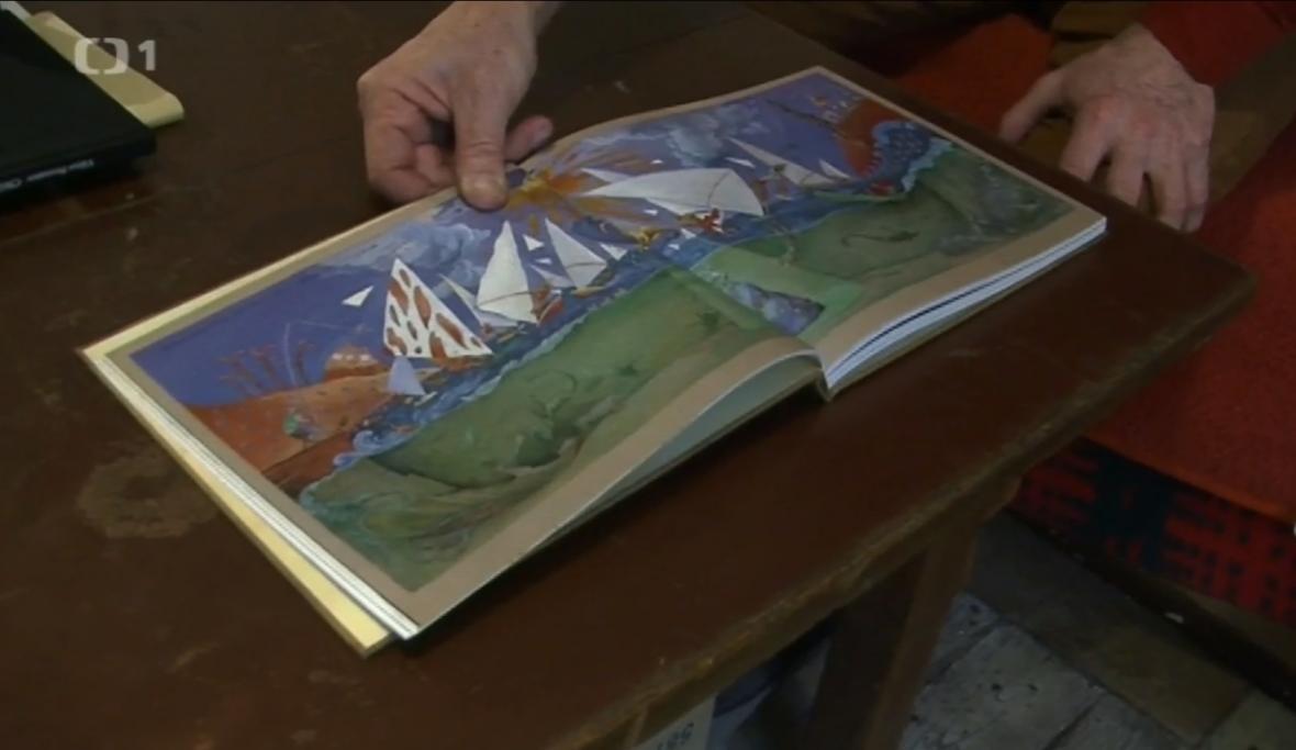 Námět pro gobelín od malíře Františka Skály