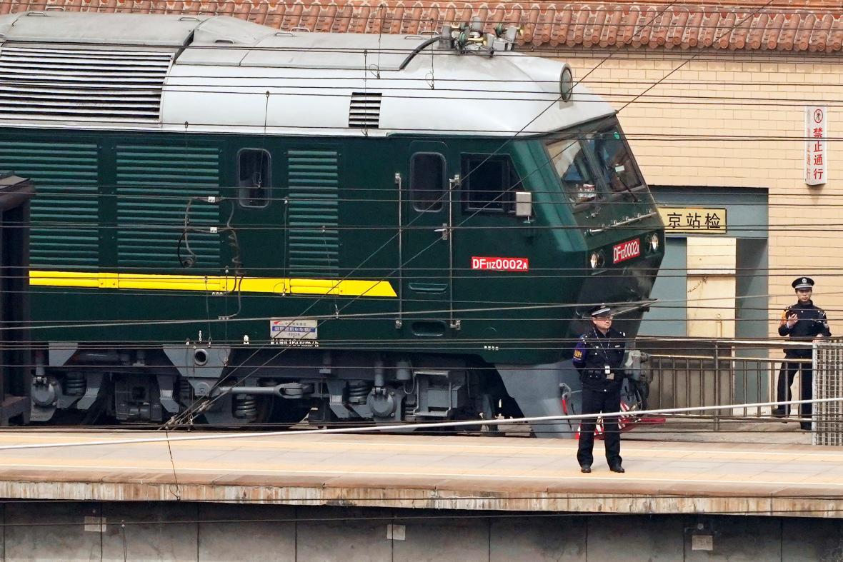 Vlak, kterým pravděpodobně cestoval severokorejský vůdce Kim Čong-un do Pekingu