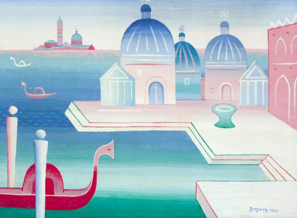 Jan Zrzavý / Benátky, 1928, olej, plátno, 48 x 63,5 cm, soukromá sbírka