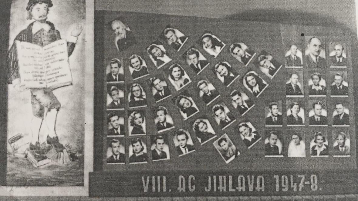 Maturitní tablo Karla Linharta