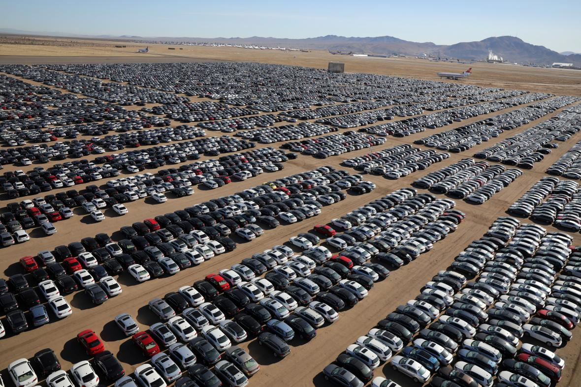 Odstavené vozy Volkswagenu a Audi