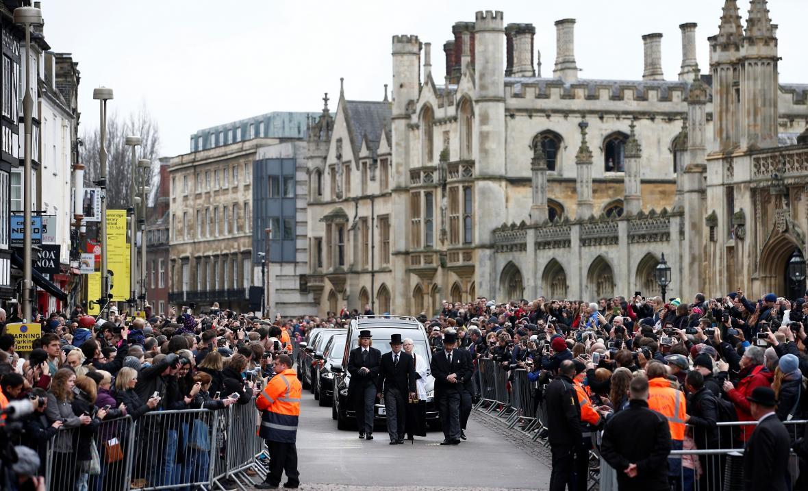 Hawkingův pohřeb