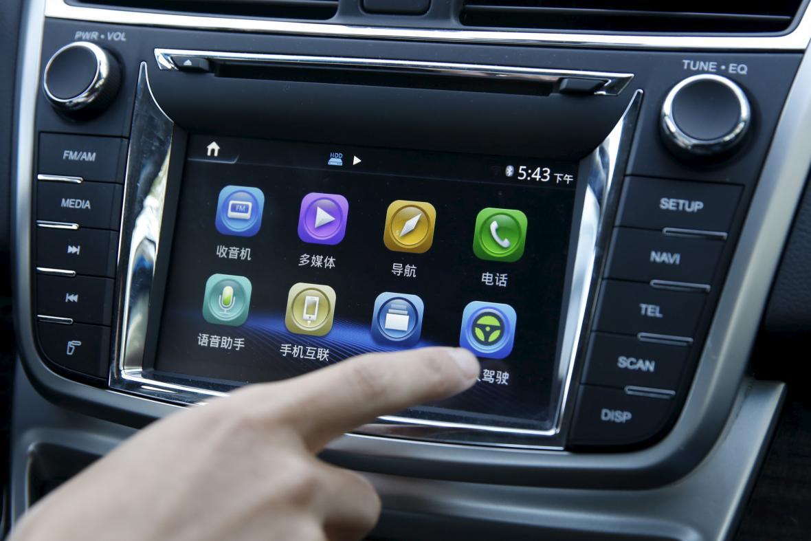 Autonomní auto v Číně