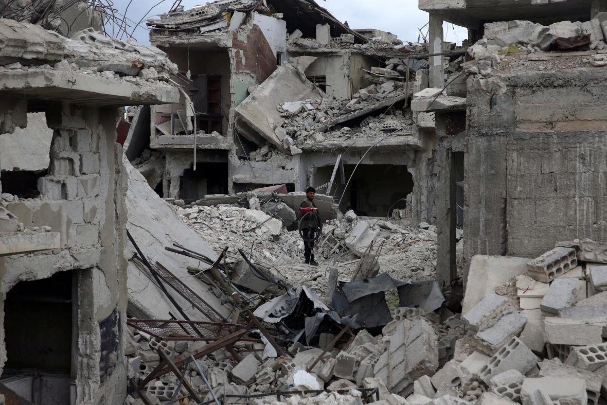 Syrské město Dúmá
