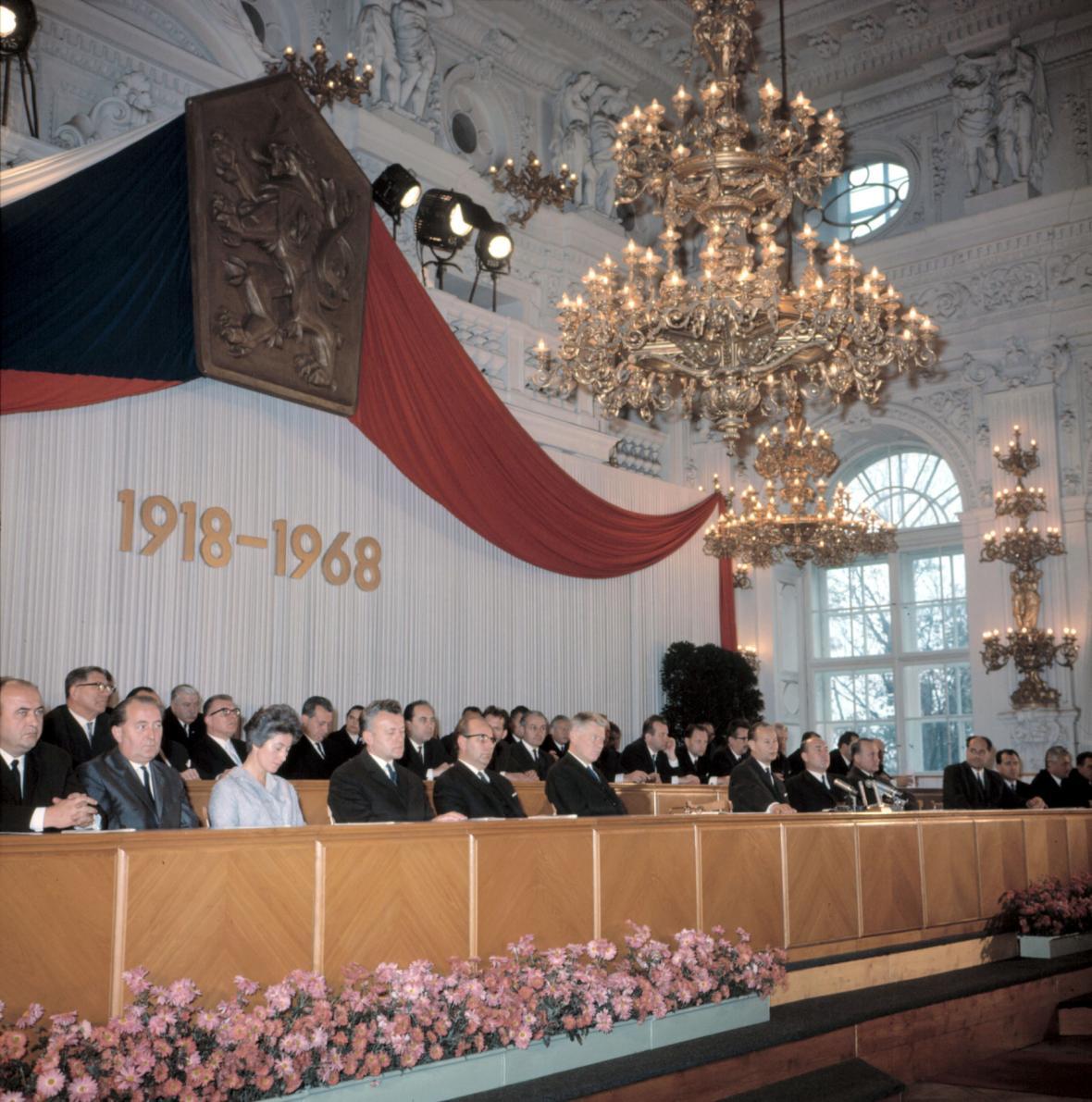 Dne 27. října 1968 Národní shromáždění schválilo zákon o československé federaci