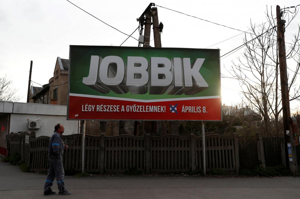 Plakát opozičního Jobbiku