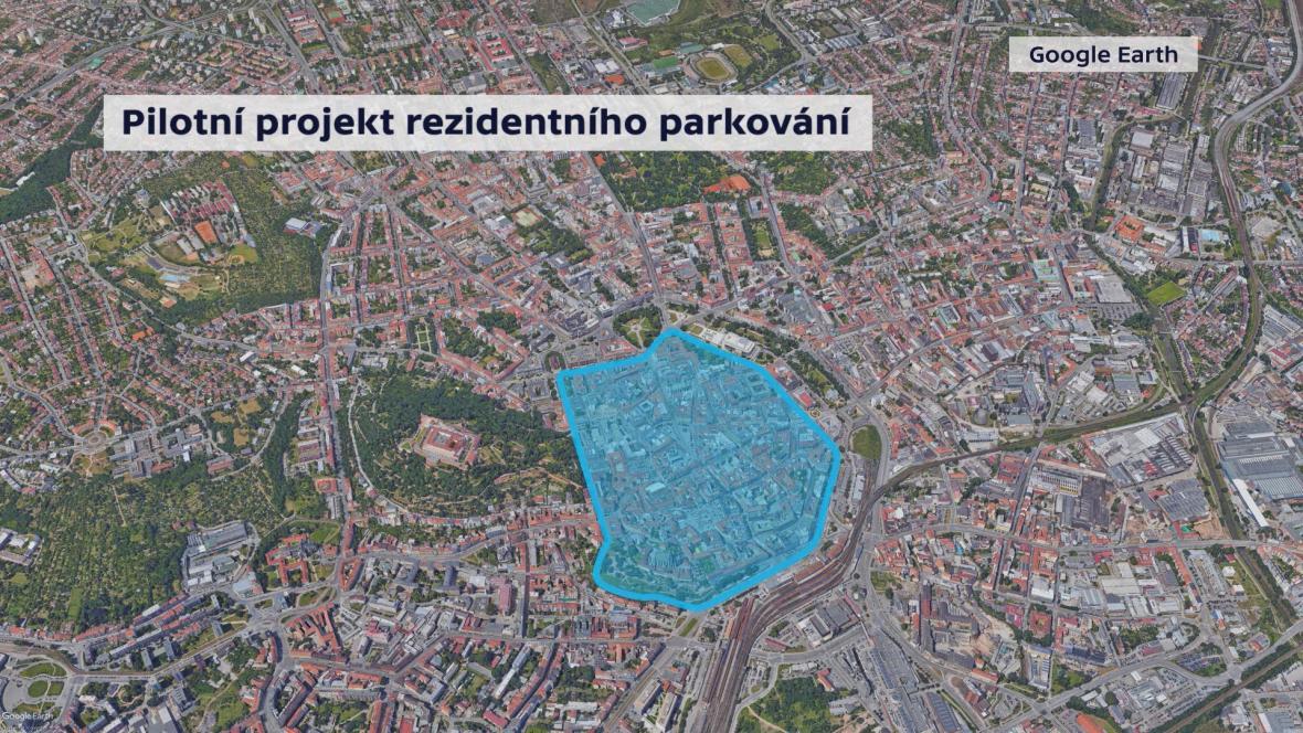 Zóna rezidentního parkování v Brně