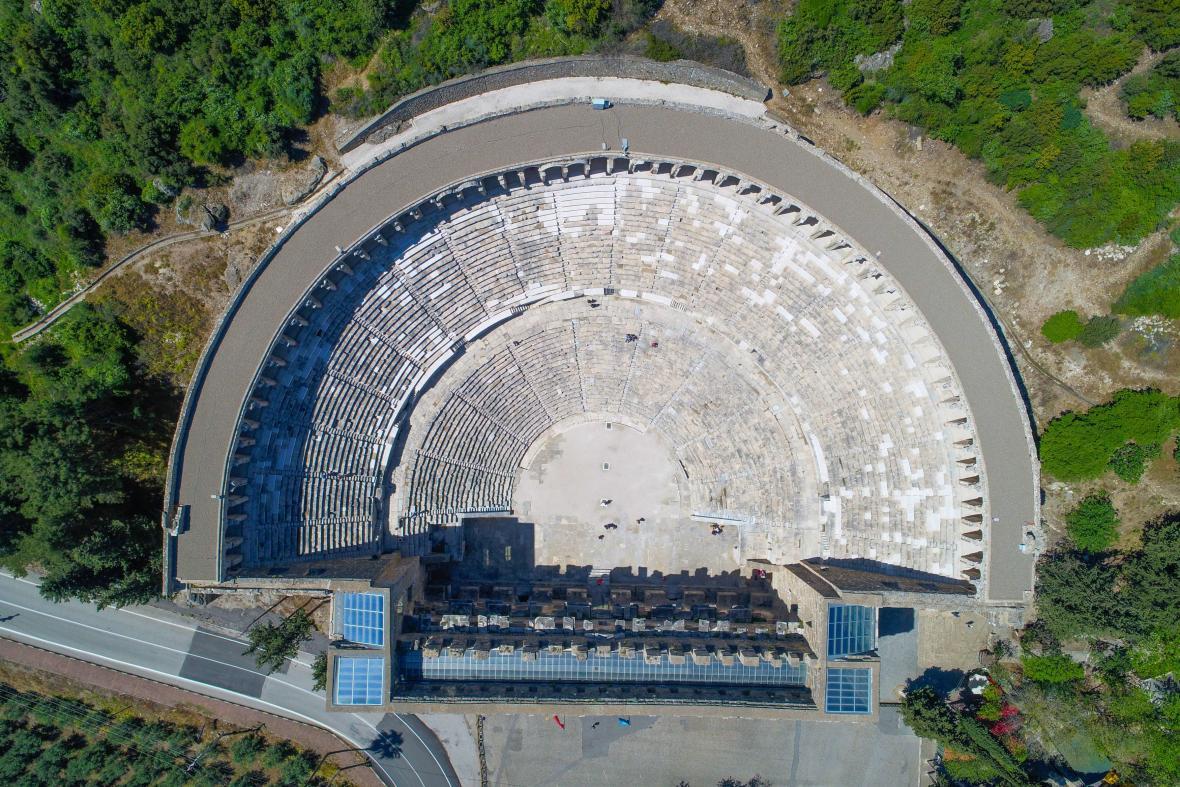 Antické divadlo Astandos v Turecku