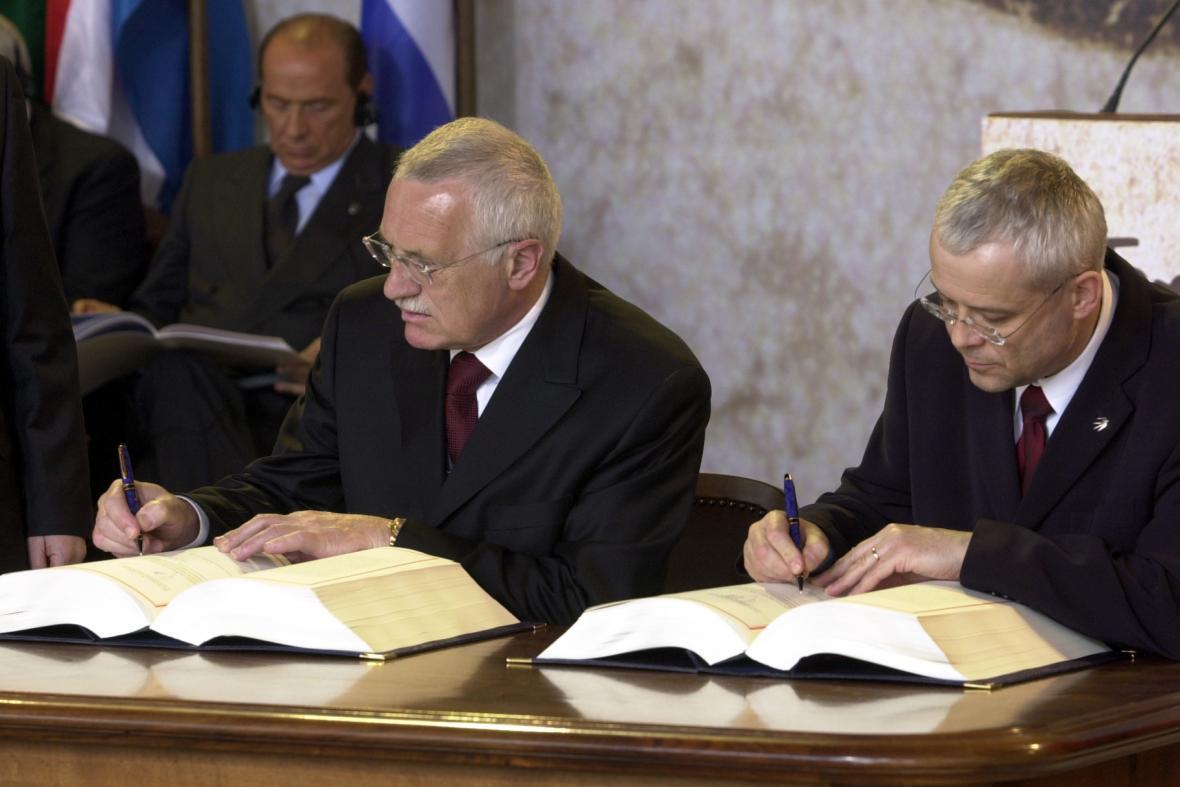 Václav Klaus a Vladimír Špidla