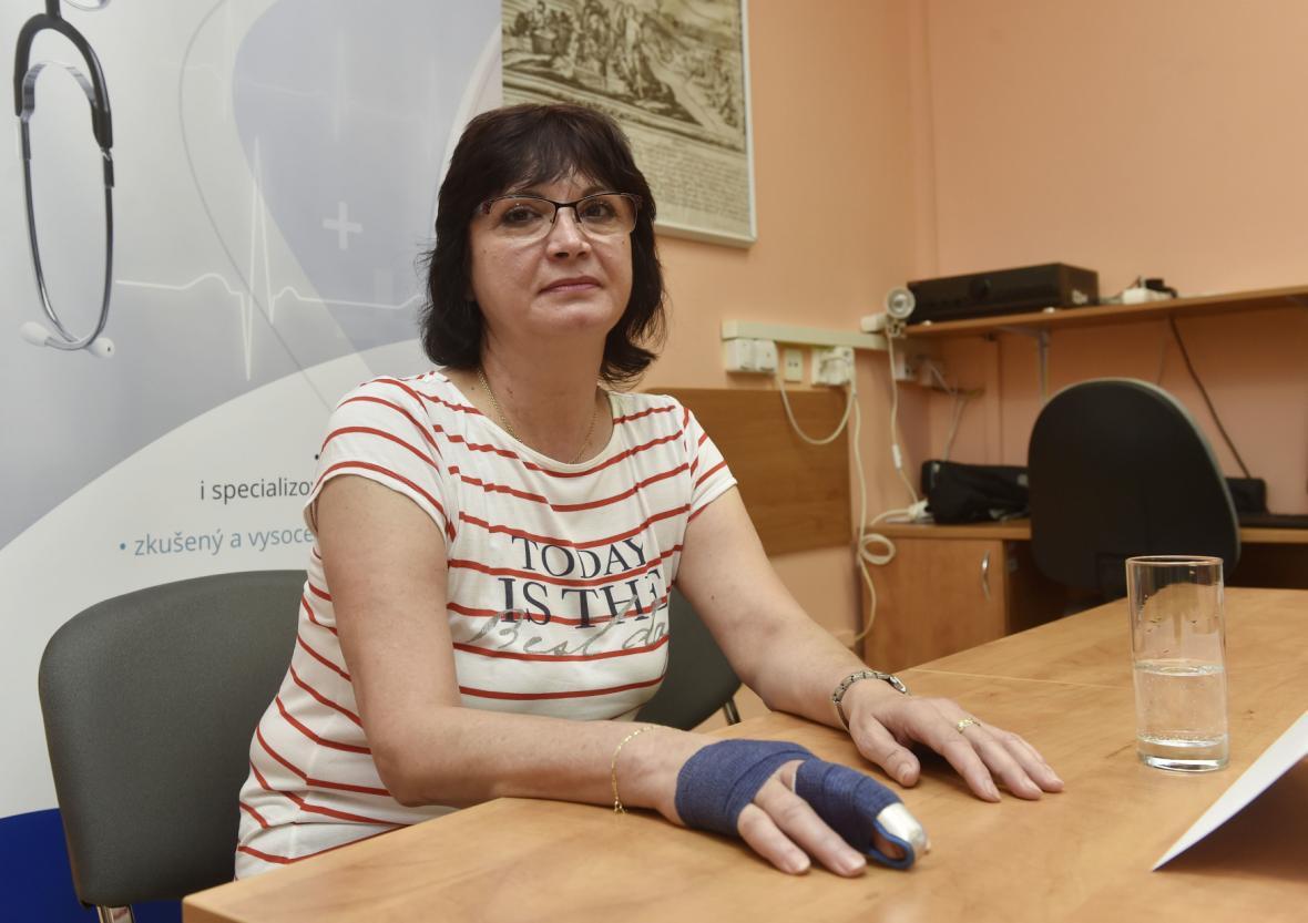 Pacientka Hana Koloušková