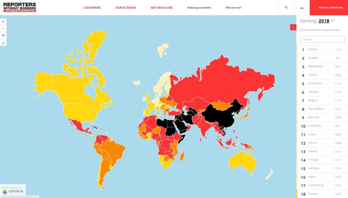 Svoboda tisku ve světě