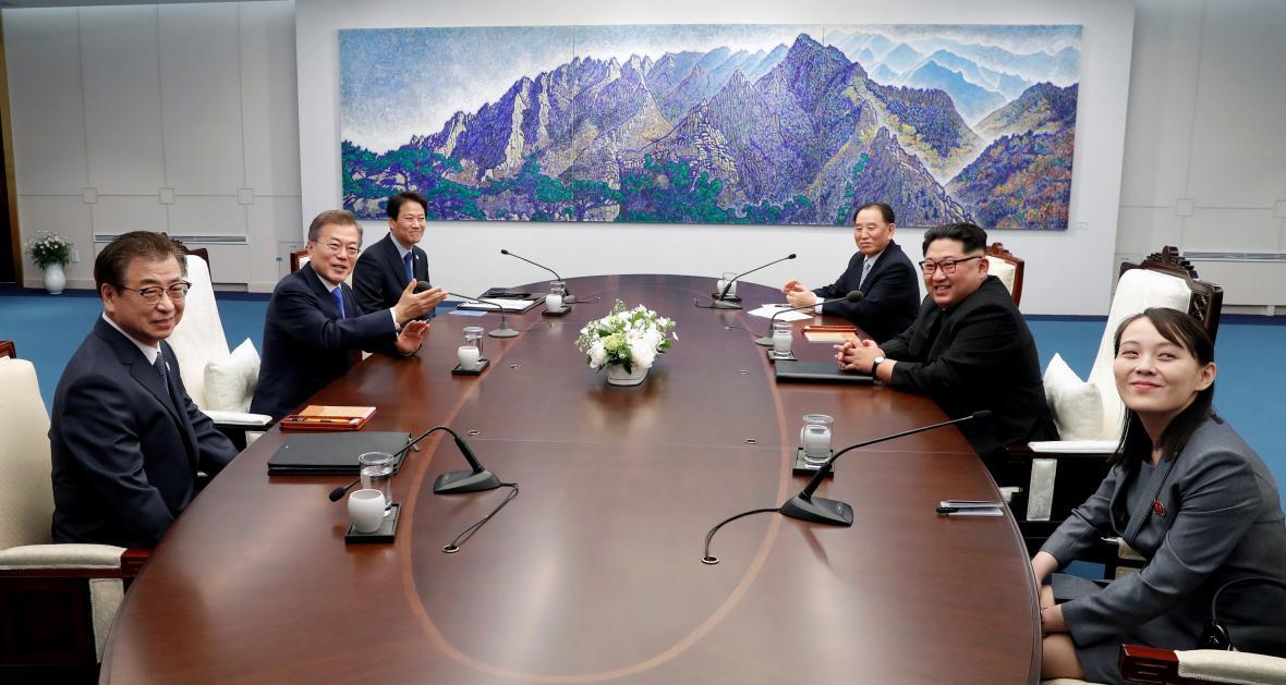 Na společném jednání nechyběla sestra severokorejského vůdce