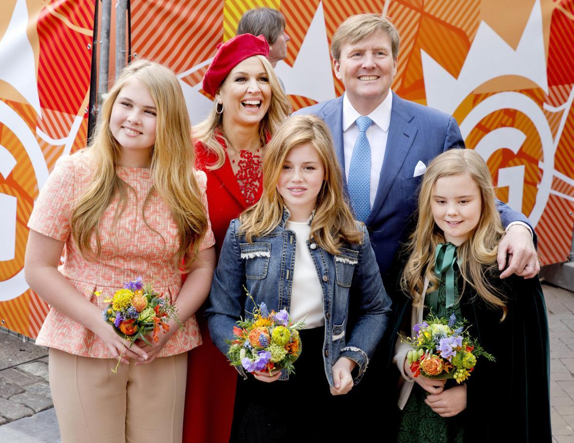 Nizozemská královská rodina v Groningenu