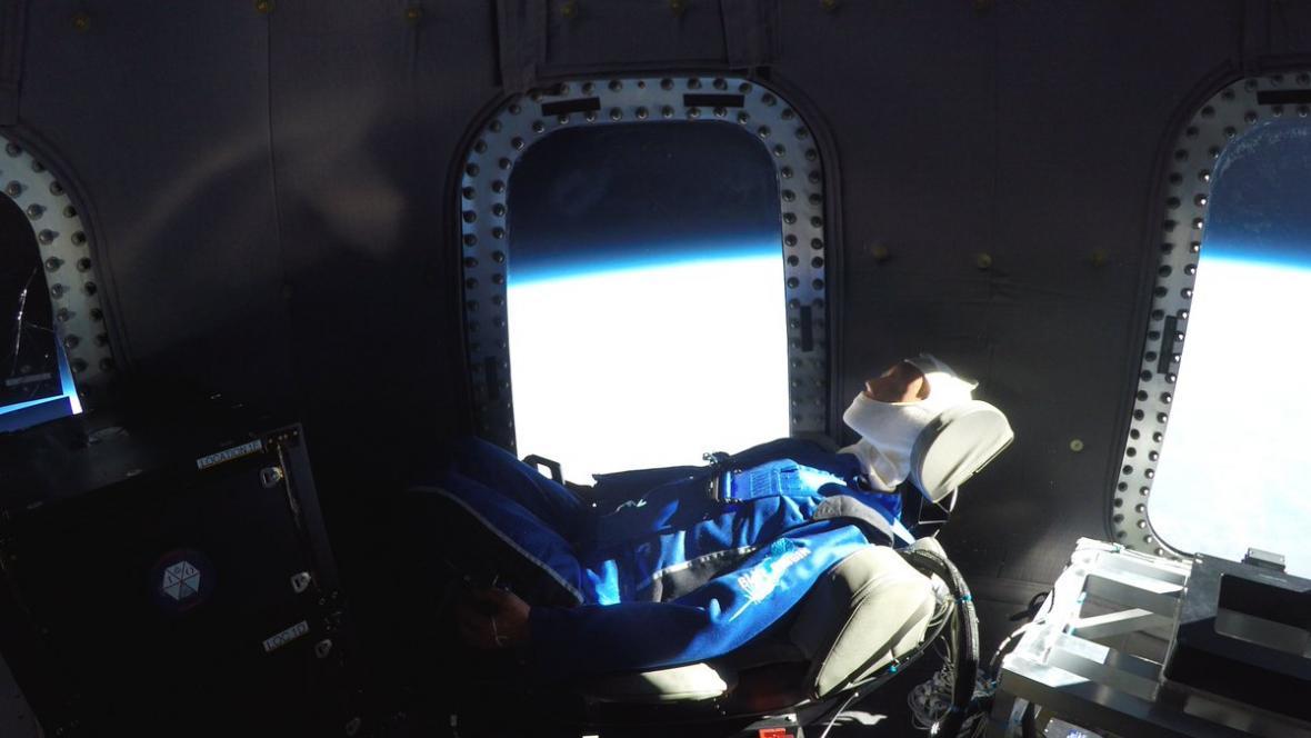 Skywalker na palubě rakety New Shepard