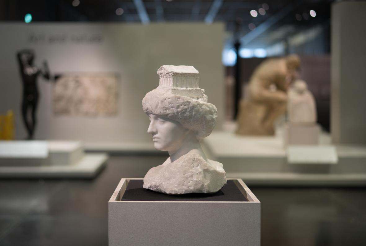 Z výstavy Rodin a umění antického Řecka (Britské muzeum)