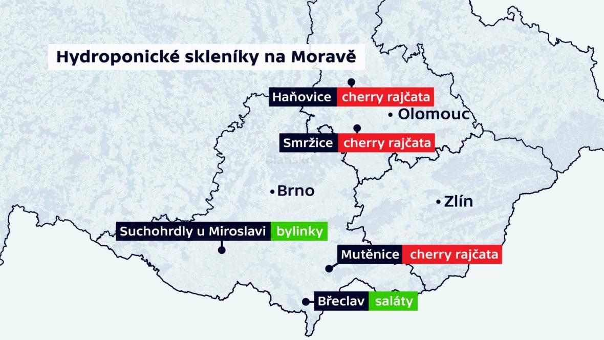 Hydroponické skleníky na Moravě