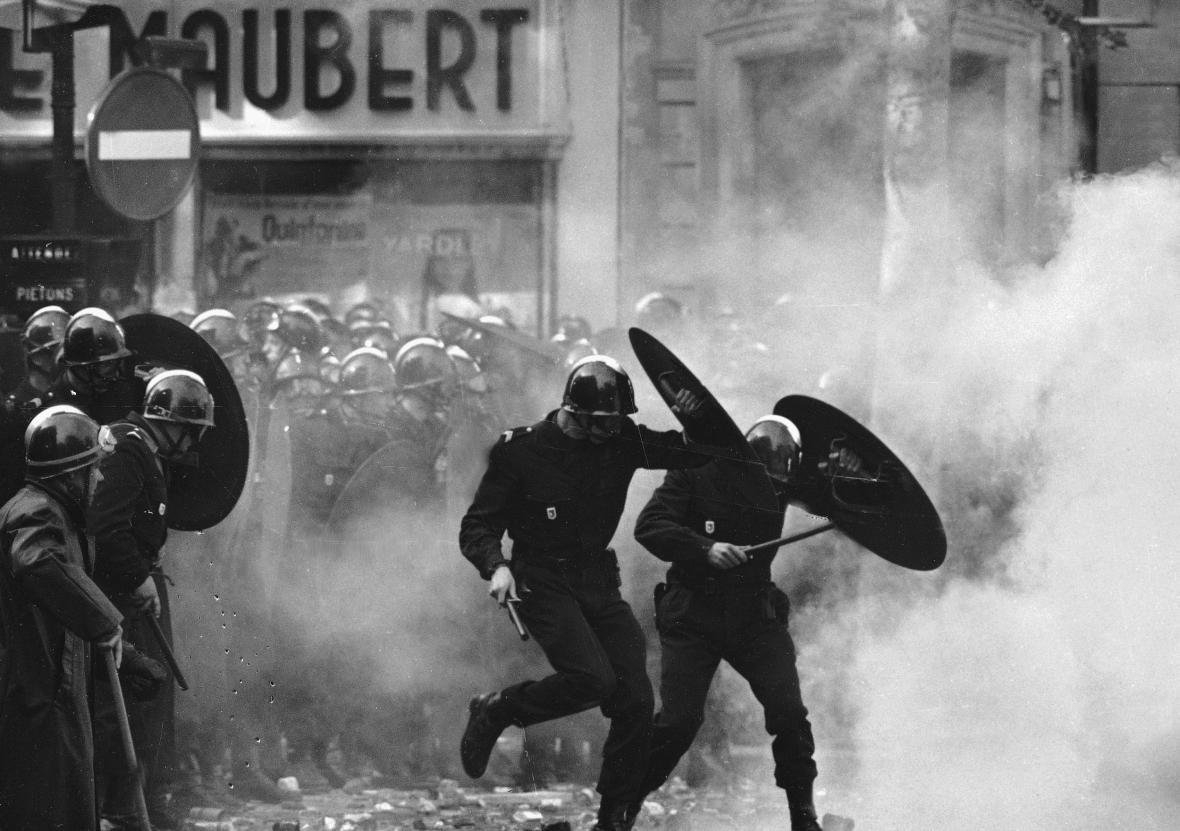 Protesty v Paříži v květnu 1968