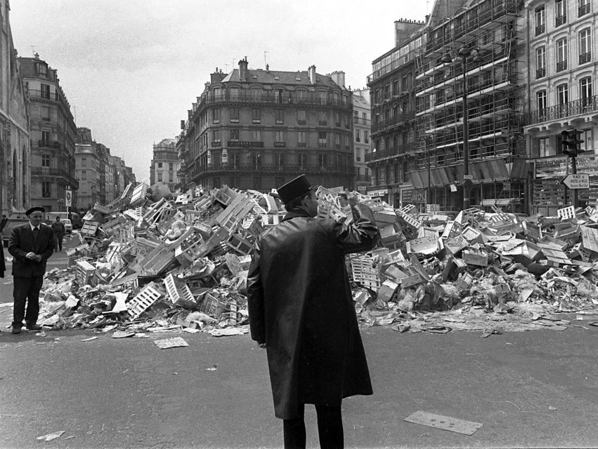 Studentské barikády v Paříži v Květnu 1968